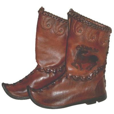 Honfoglaláskori csizma, cipő, papucs
