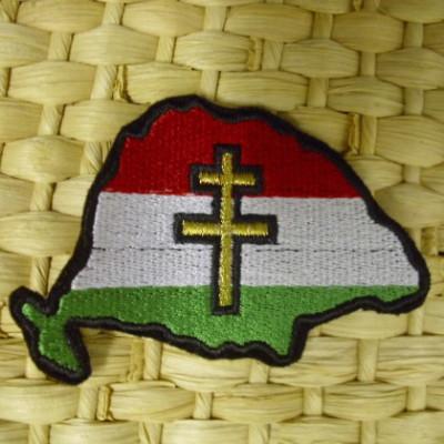 Nagy Magyarország felvarró kettős kereszttel