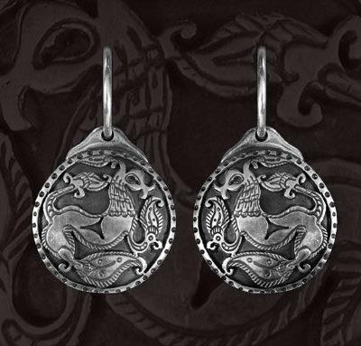 griffes ezüst fülbevaló