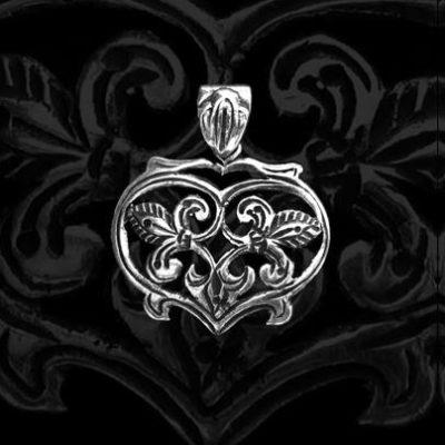 szív alakú ezüst medál