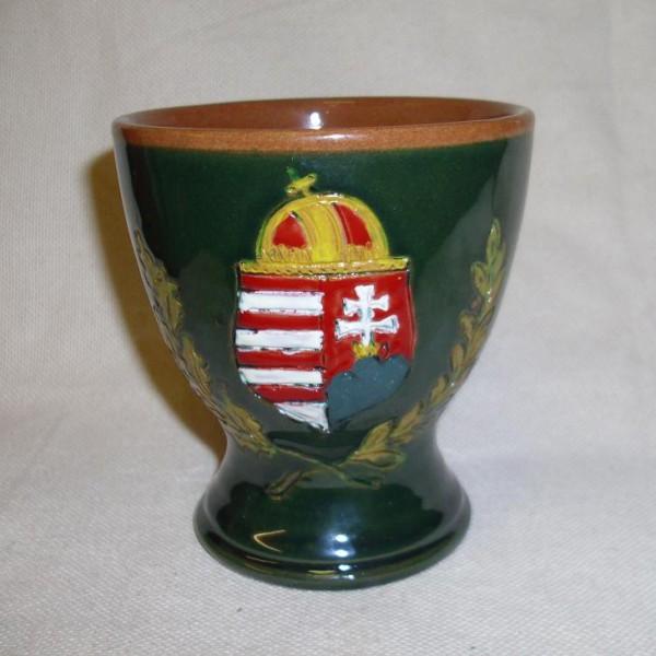 pohár-Címeres kerámia borospohár