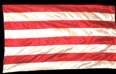 Árpád-sávos zászló-selyem