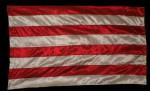 Árpád-sávos zászló- selyem