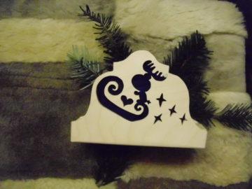Karácsonyi szalvétatartó