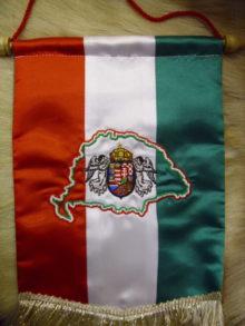 Angyalos címeres asztali zászló