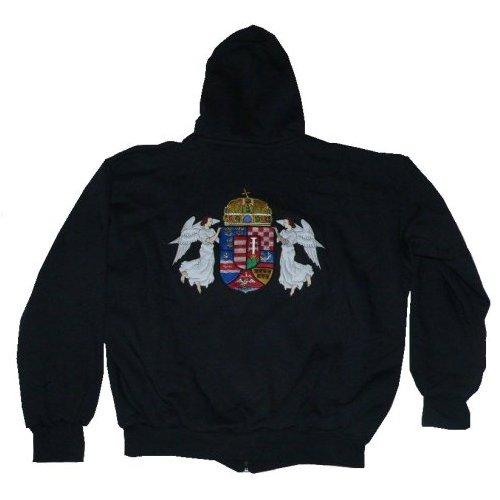 Angyalos címeres hímzett kapucnis pulóver d4c9923d0b