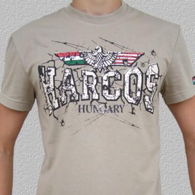 HARCOS homokszínű póló