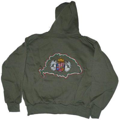 nagy magyarországos hímzett kapucnis pulóver