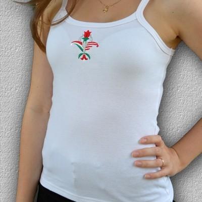 HARCOS pántos hímzett női trikó