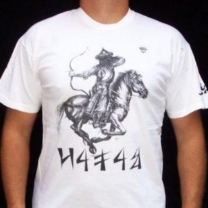 fehér póló magyar lovasíjász grafikával