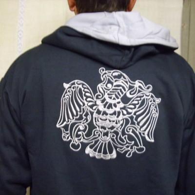 ezüst rakamazi turulos kapucnis pulóver