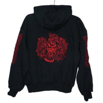 rakamazi turulos hímzett kapucnis pulóver