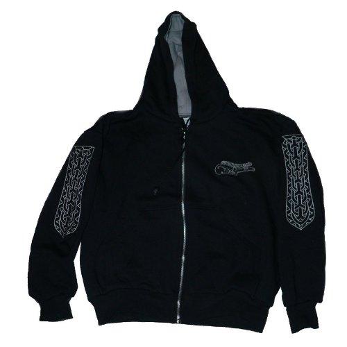 Szarvasos hímzett kapucnis pulóver 3fc169298d
