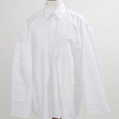 fehér bőujjú ing