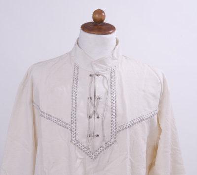 hosszú ujjú fűzős férfi íjász ing hímzett rakamazi turullal