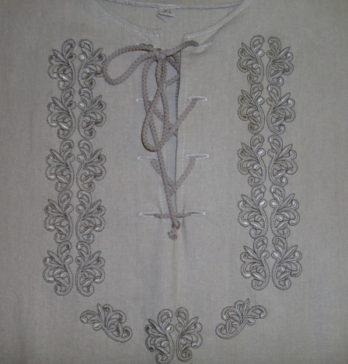 hímzett fűzős férfi ing
