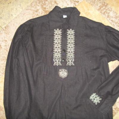 hímzett fekete székely ing
