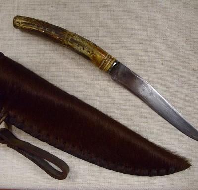 agancsnyelű kés lóbőr tokkal 6