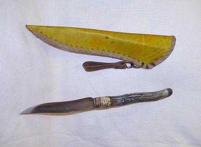 agancsnyelű kés lóbőr tokkal 3