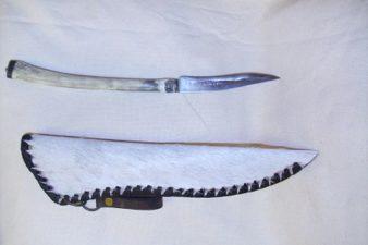 agancsnyelű kés lóbőr tokkal 5