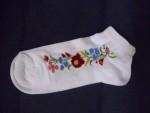 kalocsai mintás fehér zokni