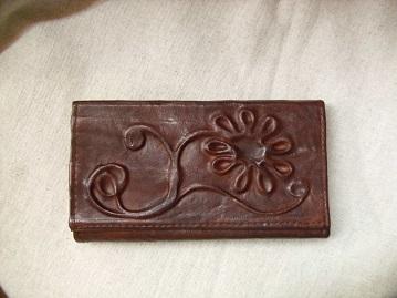 barna virágos bőr brifkó