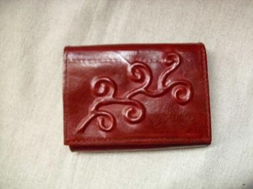 bordó bőr pénztárca