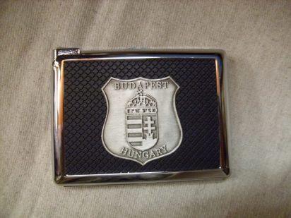 cigarettatárca magyar címerrel