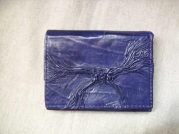 kék bőr pénztárca