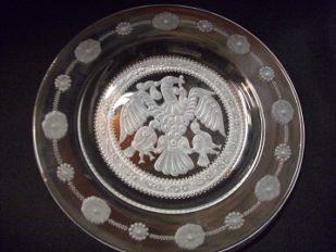 ólomkristály tányér rakamazi turullal