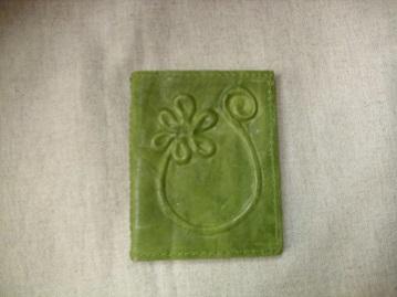 zöld bőr kártyatartó