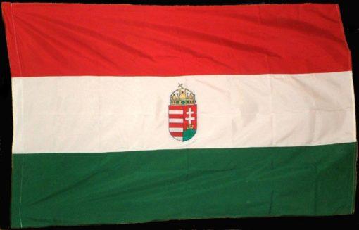 nagy címeres magyar zászló