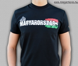 fekete Harcos póló Magyarország felirattal