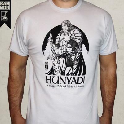 Hunyadi János fehér póló
