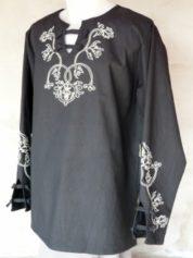 etelközi hosszú ujjú fekete ing