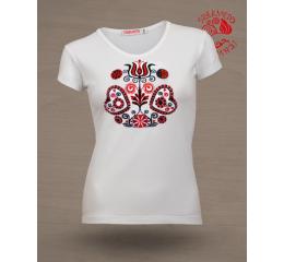 női póló buzsáki mintával