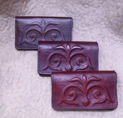 turáni mintás bőr pénztárca