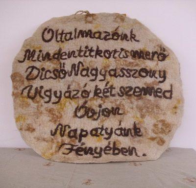 tatárlakai amulett nemez kép