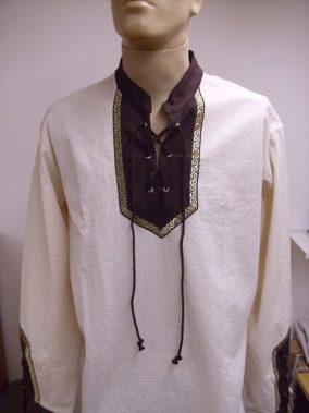 54de7a0f80 hosszú ujjú fűzős férfi íjász ing hímzett rakamazi turullal ijász ing  rakamazi turullal ...