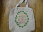 hímzett vászon táska