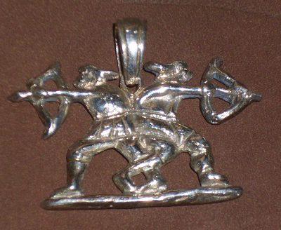 szkíta harcosok ezüst medál