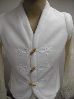 fehér zsinóros női mellény