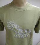hímzett póló szkíta szarvassal