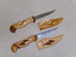 kés intarziás fa tokban