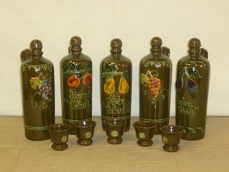 pálinkás kerámia butellák