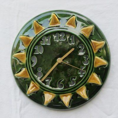 nap kerámia falióra-zöld