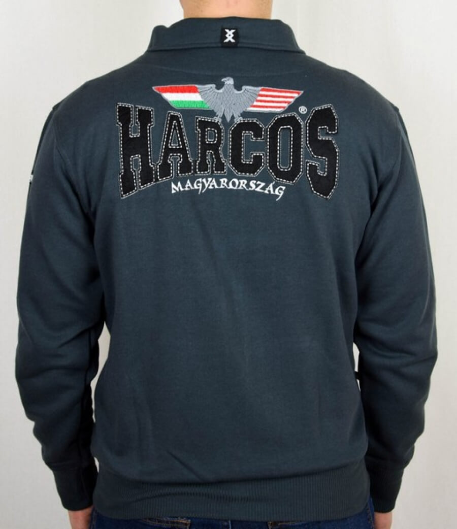 Magyar Harcos zöld belebújós pulóver
