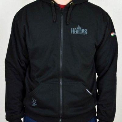 magyar harcos fekete pulóver szürke rovással