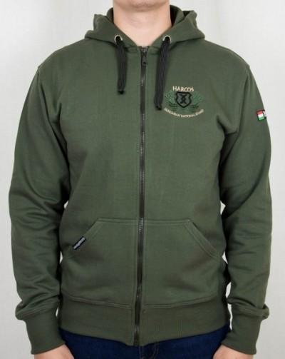 magyar harcos zöld pulóver fekete rovással