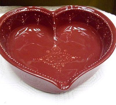 szív alakú kerámia sütőtál
